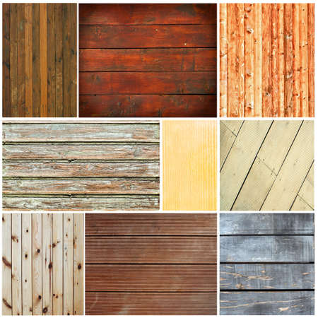Wood textures collage Stock Photo - 15686445