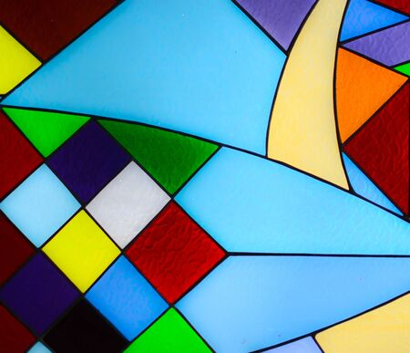 Abstract glass mosaic background photo