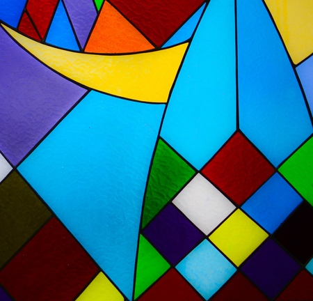 Multicolored glass mosaic background