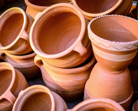 Glazed ceramics or earthenware photo