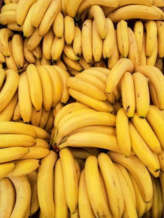 banana: Fresh bananas background Stock Photo