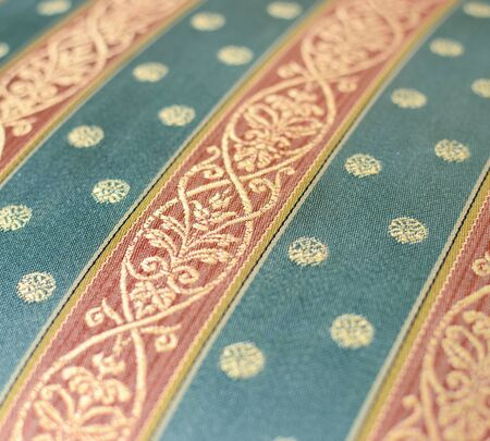 Vintage furniture textile closeup photo