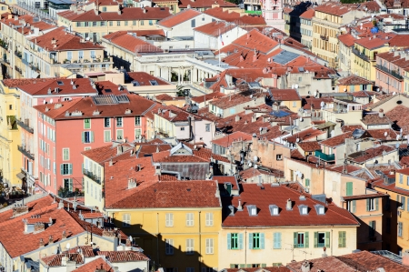 View on old town of Nice- France photo