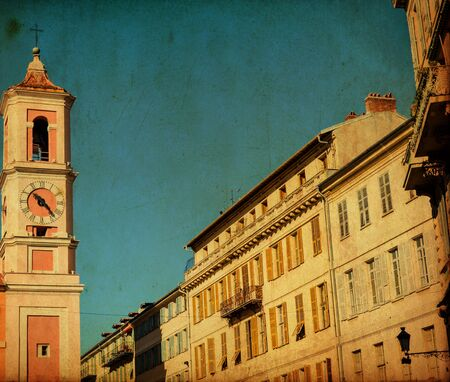 Vinatage image of old street at Florence Italy photo