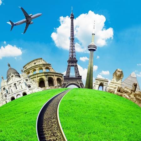Podróżować po świecie koncepcyjne obraz Zdjęcie Seryjne