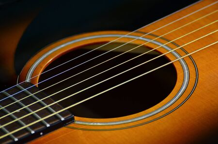 re do: Guitar macro shot Stock Photo