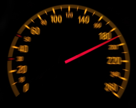 car speed: Car speedometer and counter - Speed concept Stock Photo