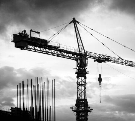 Crane silhouette photo