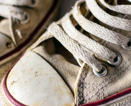 Pair of old sneakers closeup Stock Photo - 16795557
