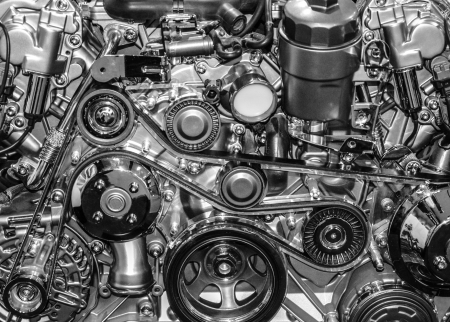 Sport car engine photo