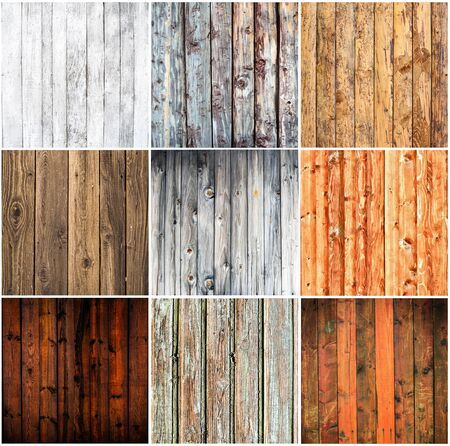 Wood textures collage photo