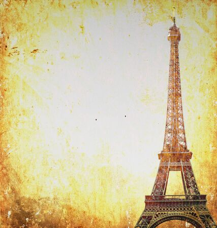 Eiffel tower retro photograph photo