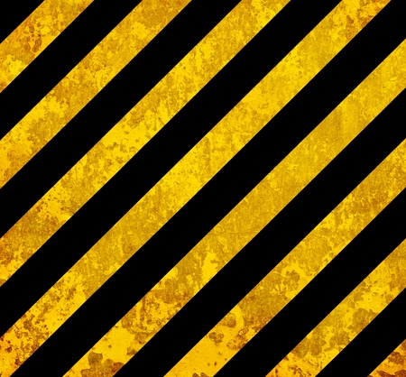 Grunge background with yellow and black lines photo
