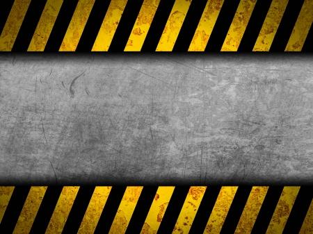 hazard stripes: Grunge metal background