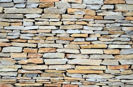 Modern stone wall photo