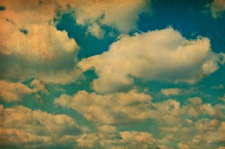 Retro sky photo