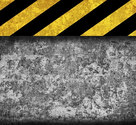 Rustic metal background with warning stripes Stock Photo - 17119998