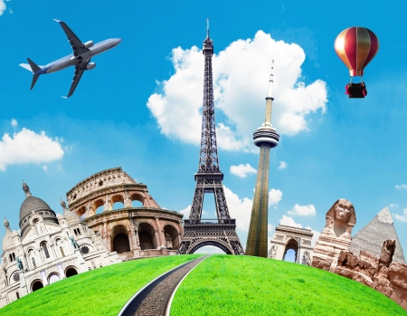 conceptual image: Travel the world conceptual image Stock Photo