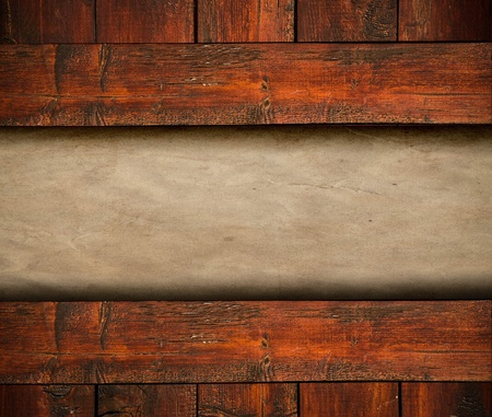 Blank paper on wooden background Stock Photo - 17231029
