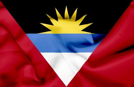 antigua flag: Antigua and Barbuda waving flag