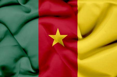 cameroon: Cameroon waving flag