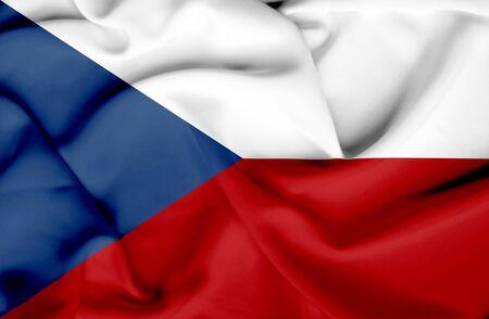 Czech Republic waving flag Stock Photo - 17267692