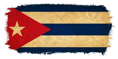 Cuba grunge flag photo