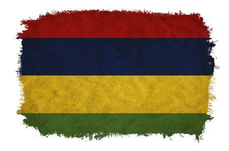 Mauritius grunge flag photo