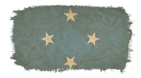 micronesia: Micronesia grunge flag