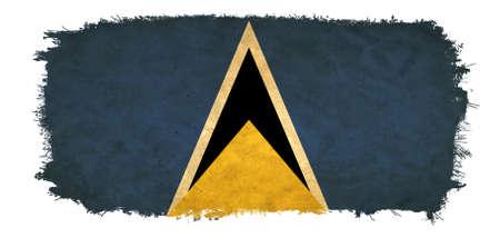 lucia: Saint Lucia grunge flag