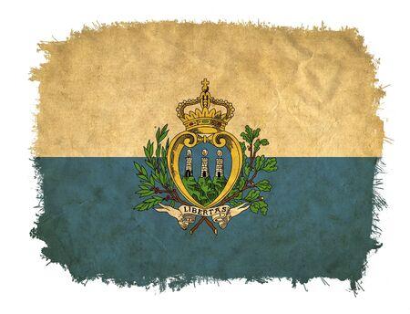 san marino: San Marino grunge flag