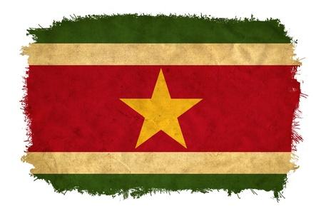 suriname: Suriname grunge flag