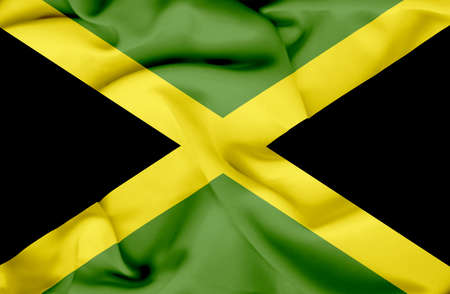 Jamaica waving flag Stock Photo - 17267621