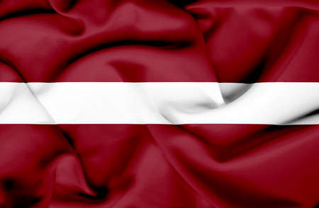 Latvia waving flag photo