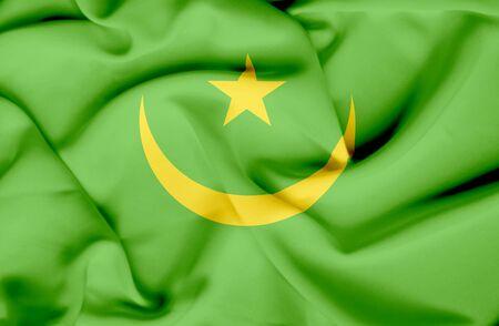 mauritania: Mauritania waving flag