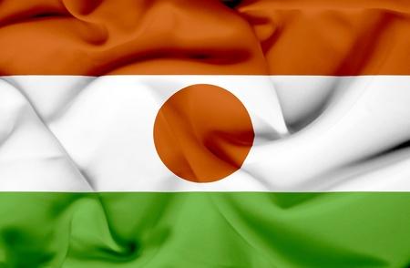 niger: Niger waving flag Stock Photo