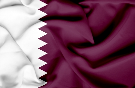 Qatar waving flag photo