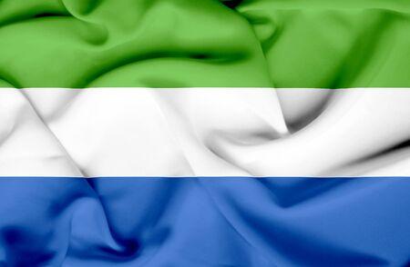 sierra: Sierra Leone waving flag Stock Photo