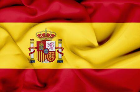 spain: Spain waving flag