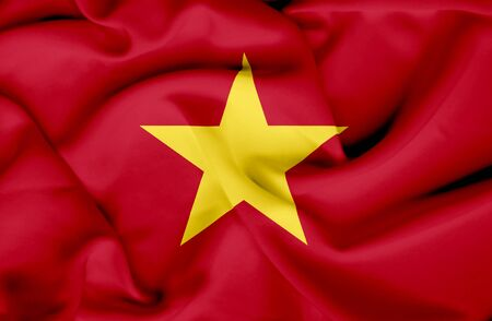 Vietnam waving flag Stock Photo - 17267819