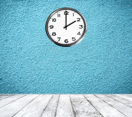 Retro room with clock on wall Stock Photo - 17538924
