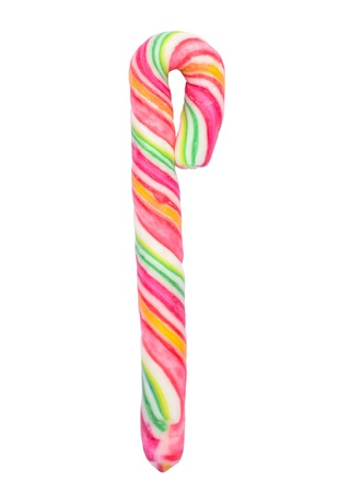 candy stick: Christmas candy stick isolated on white