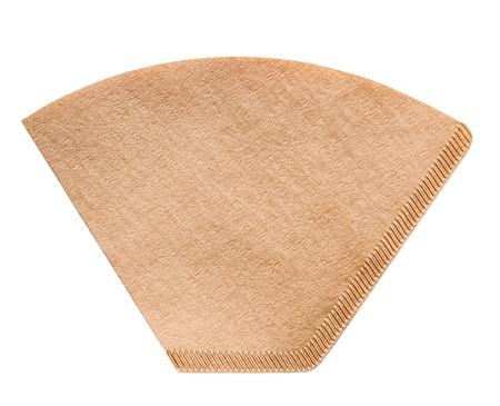papel filtro: Caf� bolsa de papel de filtro aislado en blanco