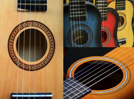 re do: Guitar collage Stock Photo