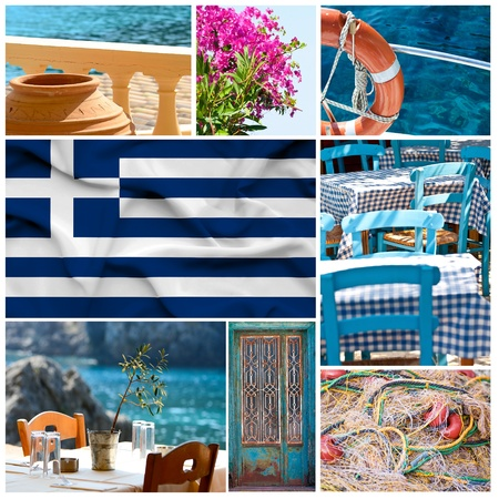 Greece collage Stock Photo - 17996688