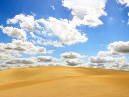 Desert and blue sky photo