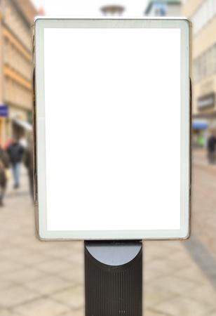 Empty billboard in city center photo
