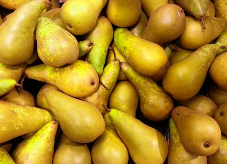 Fresh pears background Stock Photo - 18446143