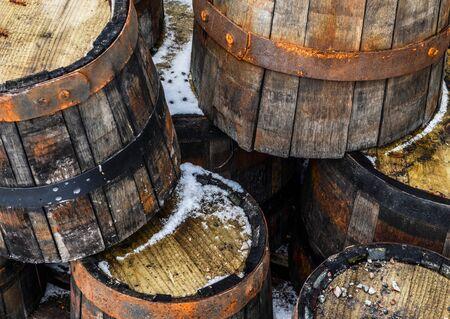 bacchus: Vintage wooden barells
