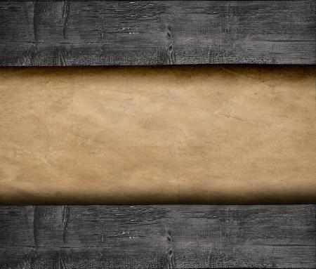 Paper on wood background Stock Photo - 18755824